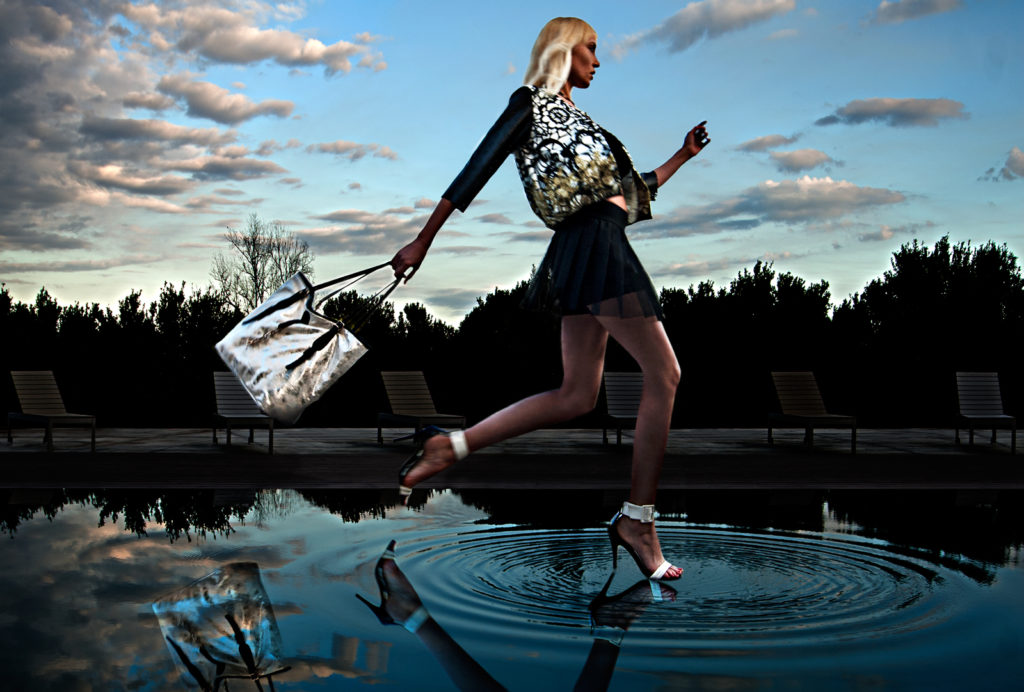 Fashio, shoes and bag, moda, scarpe e borse, clothing, make up, hair stylist, portrait, photomanipulation,